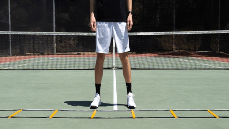 Photo of Five efficient and easy tennis ladder footwork drills